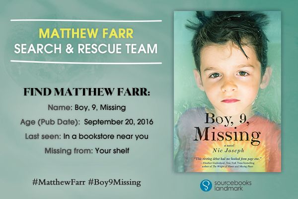 Boy, 9, Missing Blog Tour: Matthew Farr Search & Research Team