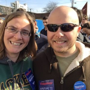 Kate and Jim at Bernie Rally