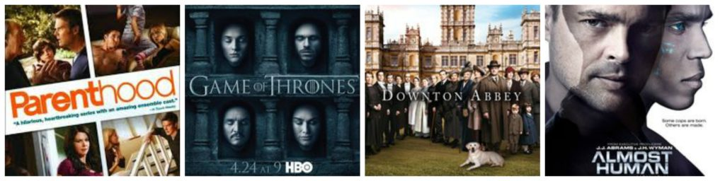 30s Favorite TV Shows: Parenthood, Game of Thrones, Downton Abbey, Almost Human