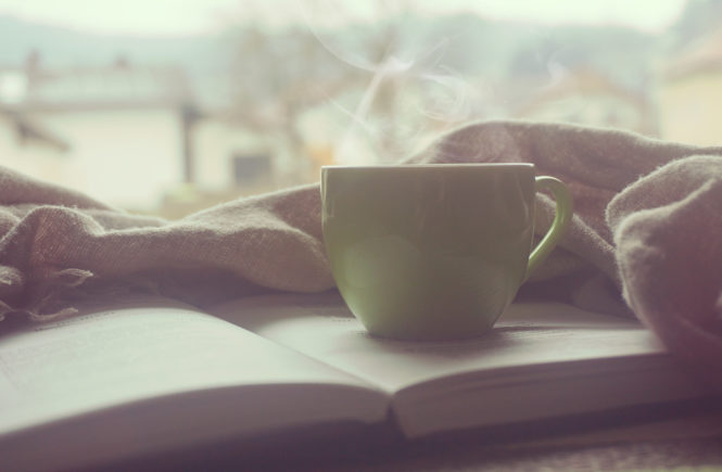 Mug on Book with Blanket | Pexels