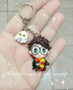 Harry Potter and Hedwig keychain