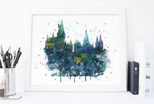 Hogwarts Watercolor Picture