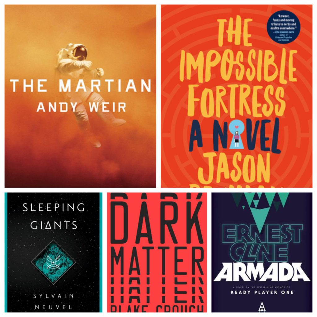 The Martian, The Impossible Fortress, Sleeping Giants, Dark Matter, Armada