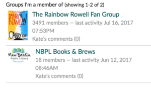 Goodreads Groups